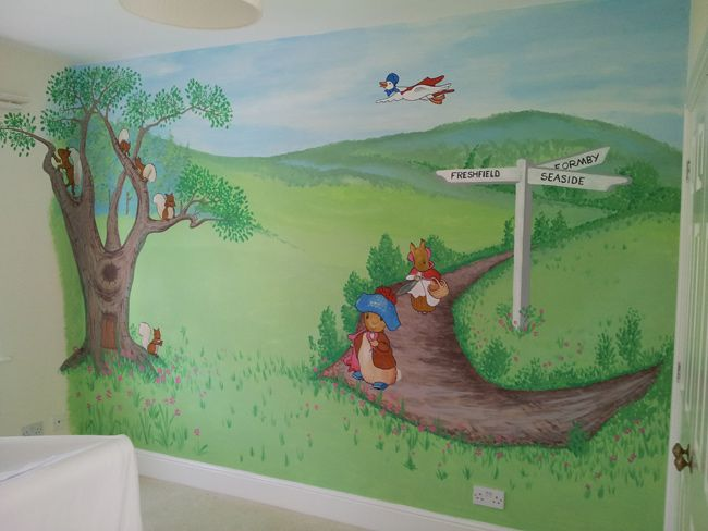 Beatrix Potter Wall Mural