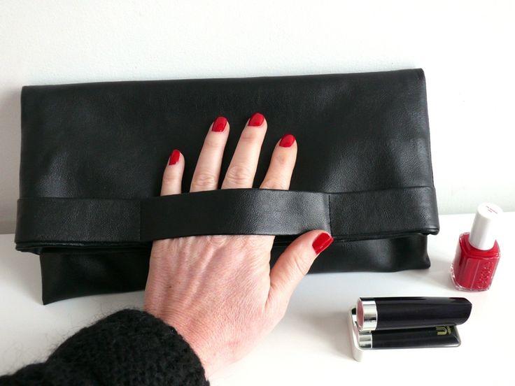 DIY: La pochette facile en simili cuir