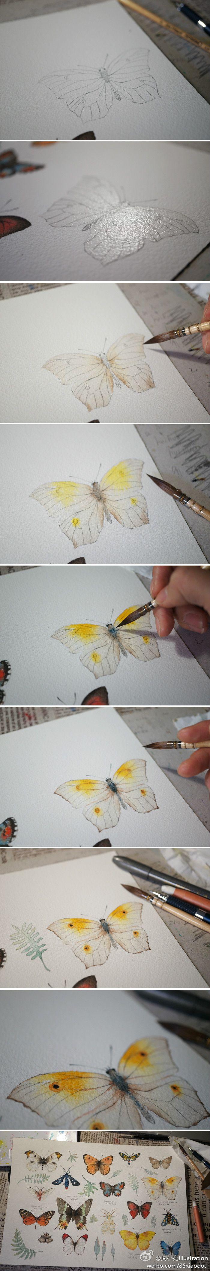 Wet on Wet Butterfly