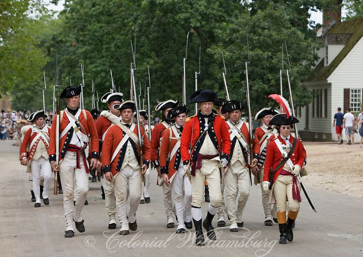 The Provost Guard Marches In  The British Army entering the city with cavalry officer Lt. Col. Banastre Tarleton leading the troops. Under the Redcoat June 2010. Re-creation of the British Armys 1781 Occupation of Williamsburg