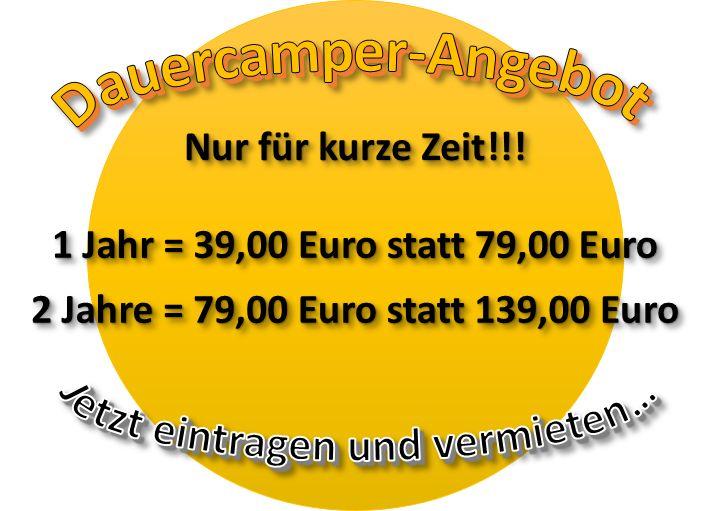 Dauercamper Rabatt Angebot