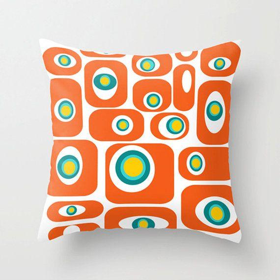 Orange Mid Century Pillows : 117 best Crash Pad Designs Modern Throw Pillows images on Pinterest Modern throw pillows ...