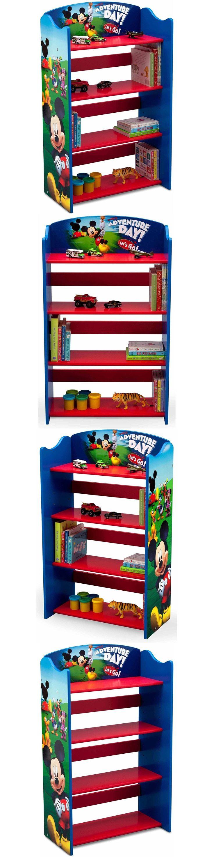 Mickey 19219: Disney Mickey Mouse Bookshelf 4-Tier Bookcase Book Organizer Kids Storage Unit -> BUY IT NOW ONLY: $33.99 on eBay!
