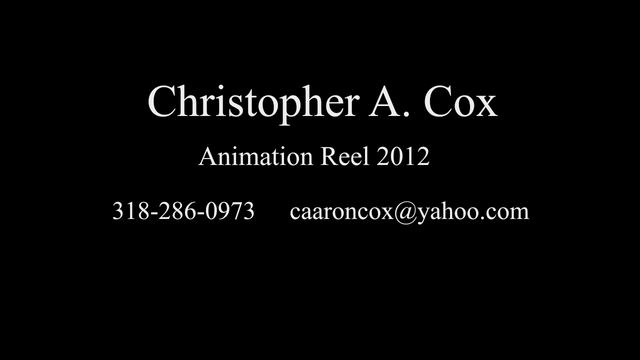 Christopher Cox Animation Reel 2012 by Christopher Cox