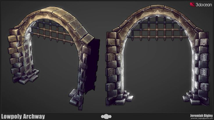 Modular Dungeon Lowpoly Arch by JeremiahBigley on deviantART