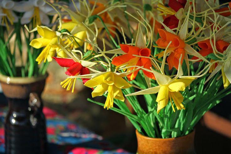 Bibułkowy ogródek Jolenty- polish folclore paper flowers