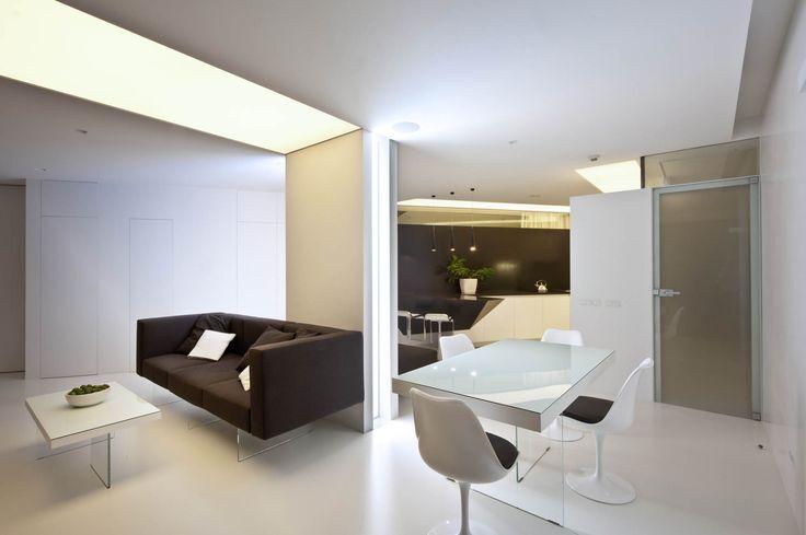The interiors of the apartment 160m on Leninsky Prospekt, Архитектурное бюро Александры Федоровой