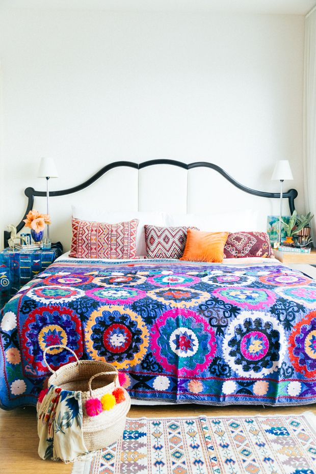 Bright and beautiful boho bed