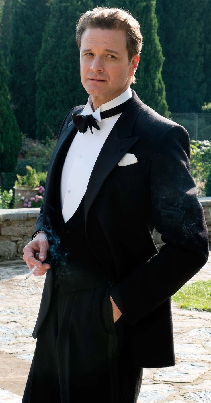 "Colin Firth in ""Magic in the Moonlight""  He looks great in formal wear in any era!"