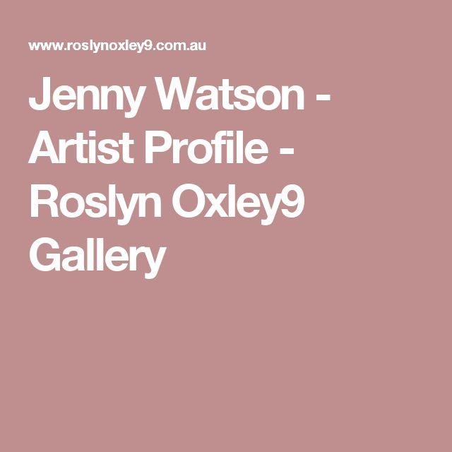 Jenny Watson - Artist Profile - Roslyn Oxley9 Gallery