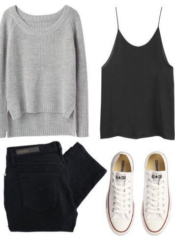 MINIMAL + CLASSIC: black & grey with neutral Converse