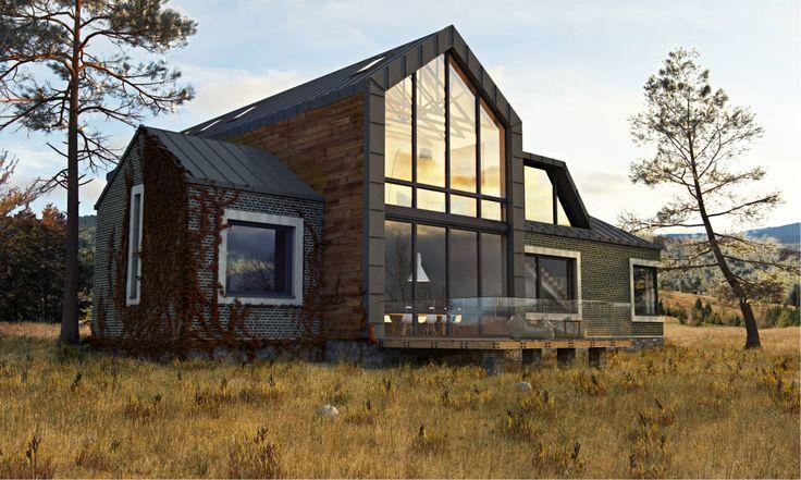 ЧАСТНЫЙ ДОМ DWELL HOUSE : Дома в стиле минимализм от IK-architects