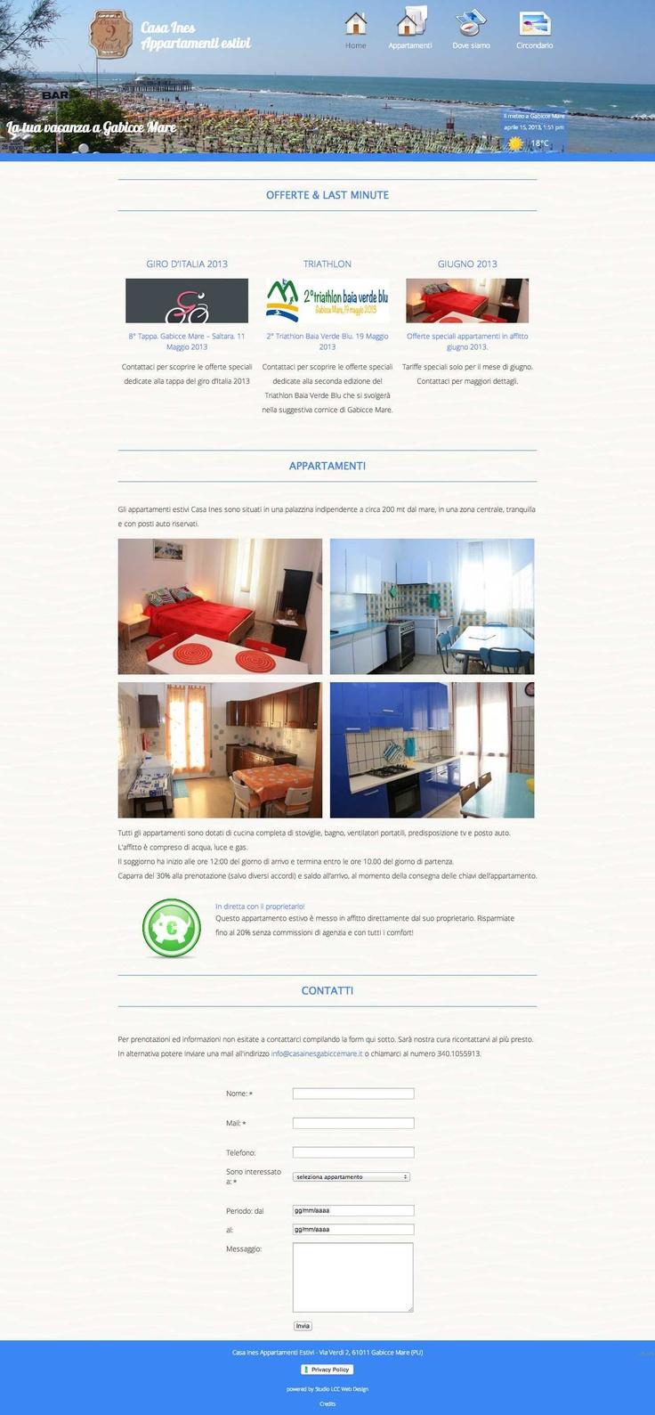 Casa Ines Appartamenti Estivi Gabicce Mare. www.casainesgabiccemare.it