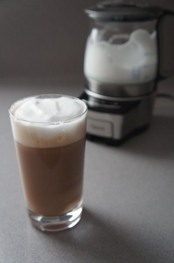 Combine tea and coffee with an iced dirty chai! Recipe from Capresso
