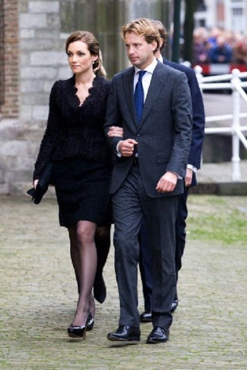 Dutch Prince Floris and Princess Aimee arrive at the Old Church in Delft, The Netherlands, for the memorial of Prince Friso, 02.11.13.
