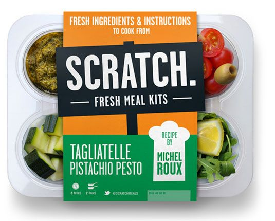 """Scratch foods was set up by Phil Pinnell, with an idea of reinventing the ready meal without the stigma. Pairing up with his mate Alex and the Princes Trust and the Foundation for Social Entrepreneurs, Scratch Meals launched at farmers' markets. This stunning package design was crafted by Stephen Brennan."""