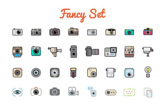 Awesome Photo Icons and Logo Set