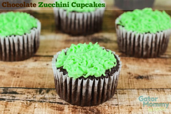 Chocolate Zucchini Cupcakes - Gator Mommy Reviews