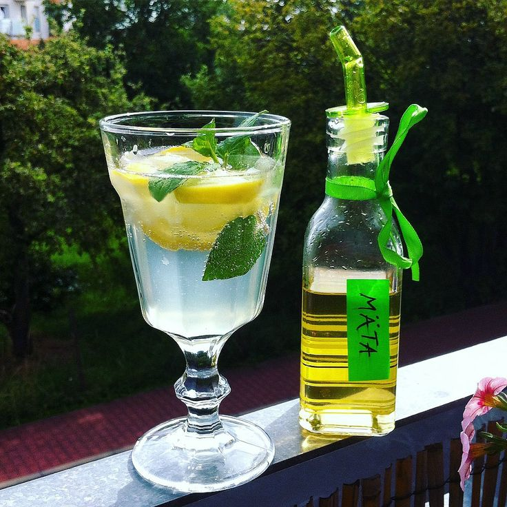 Once you prepare lemonade with a home-made herbal syrup, you will never buy any in a shop.
