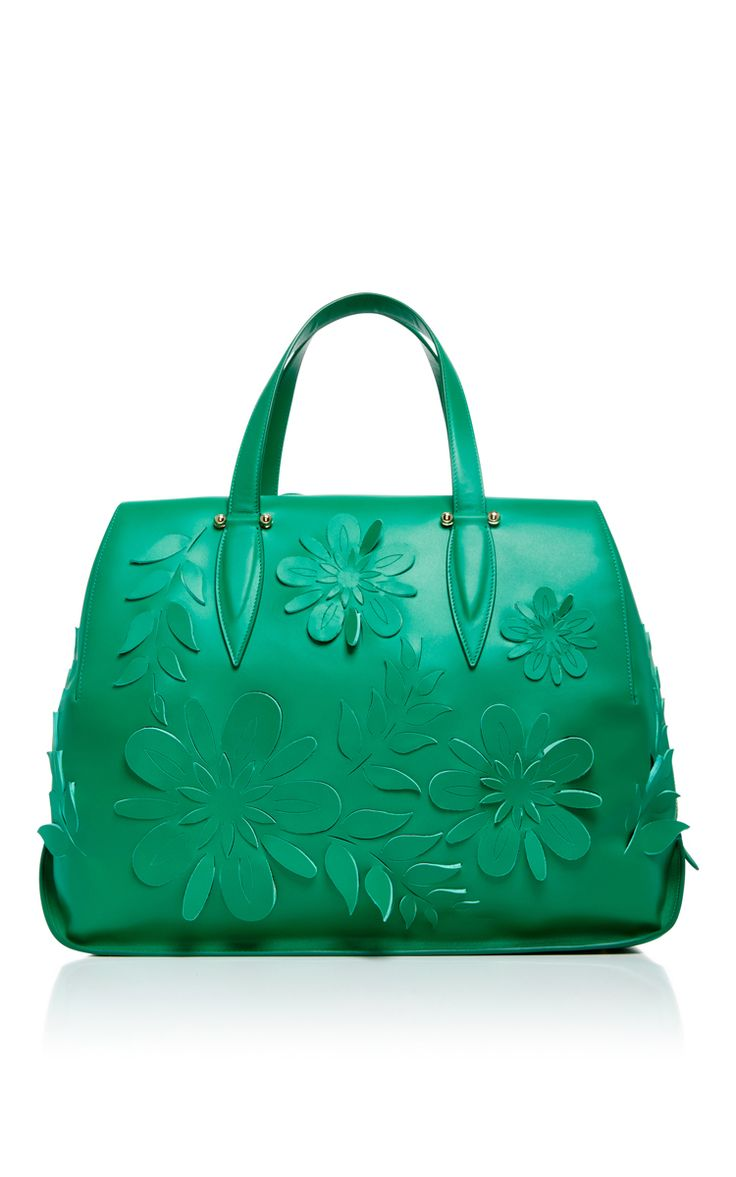 Calf Leather Doctor Travel Bag With Floral Appliqué by DELPOZO Now Available on Moda Operandi
