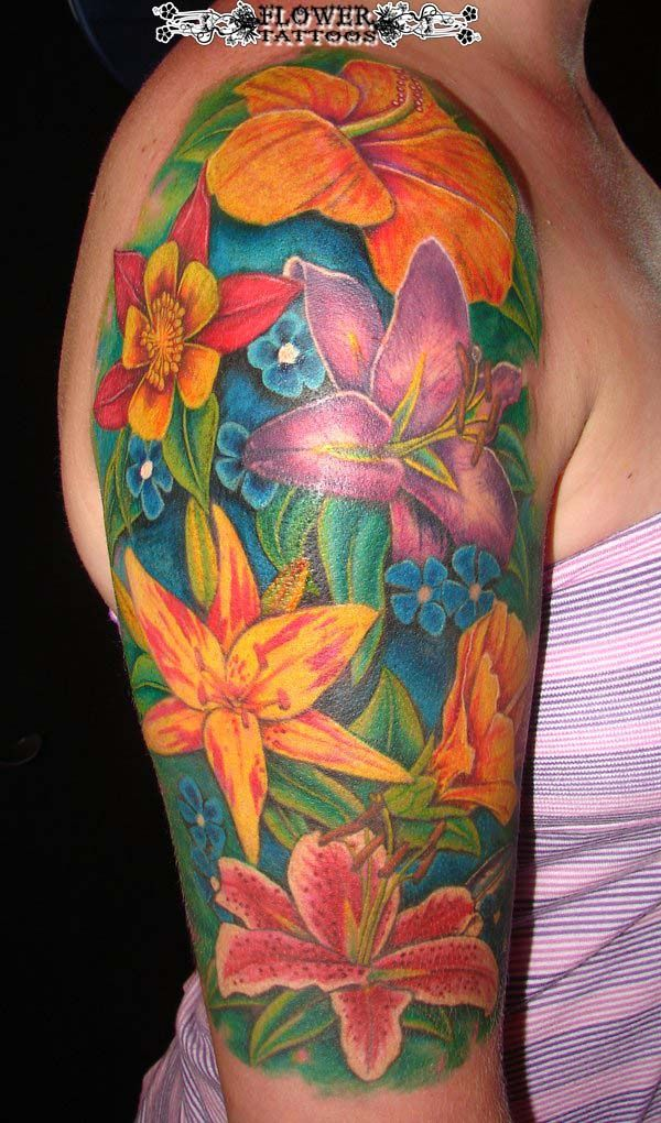 Tattoos pinterest hawaiian flower tattoos tattoos on girls and