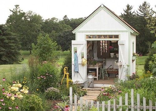 I want a shed with screen windows all the way around and a wood burning fireplace.....I want.