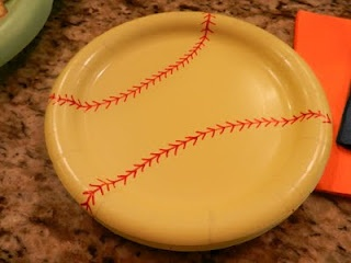 Softball party- Sharpie the plates
