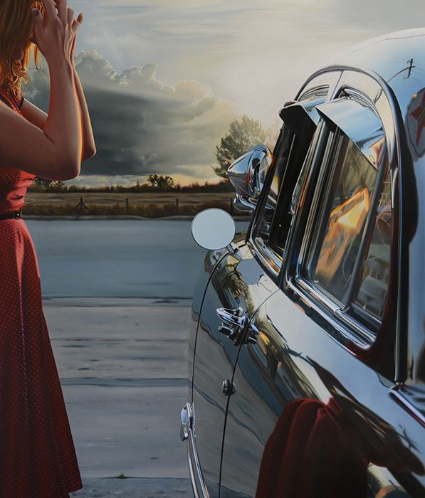 Best Hyperrealism Images On Pinterest Hyper Realistic - Astonishing photorealistic paintings of places seen through wet car windshields