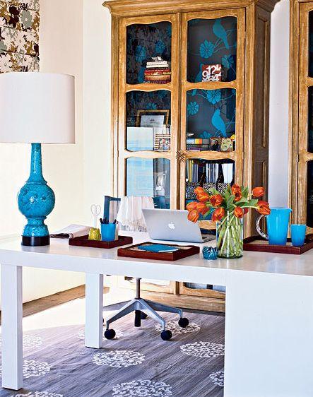 Beautiful Blue Office Space Home Ideas Pinterest