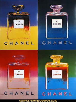 ANDY WARHOL ART FAN PAGE: Chanel No. 5 Perfume Advertising Posters by Warhol