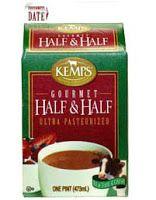 Substituto para Half & Half: Para fazer 1 xícara de half and half, misture:   * 3/4 de xícara de leite integral + 1/4 de xícara de creme de leite  ou  * 2/3 de xícara de leite desnatado + 1/3 de xícara de creme de leite  ou  * 7/8 de xícara de leite integral + 3 colheres (sopa) de manteiga