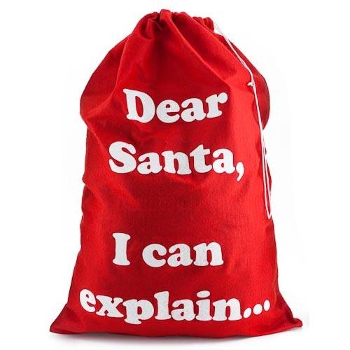 'Dear Santa' Present Sacks | Poundland