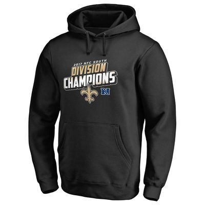 Men s NFL Pro Line by Fanatics Branded Black New Orleans Saints 2017 NFC  South Division Champions 201b701b8