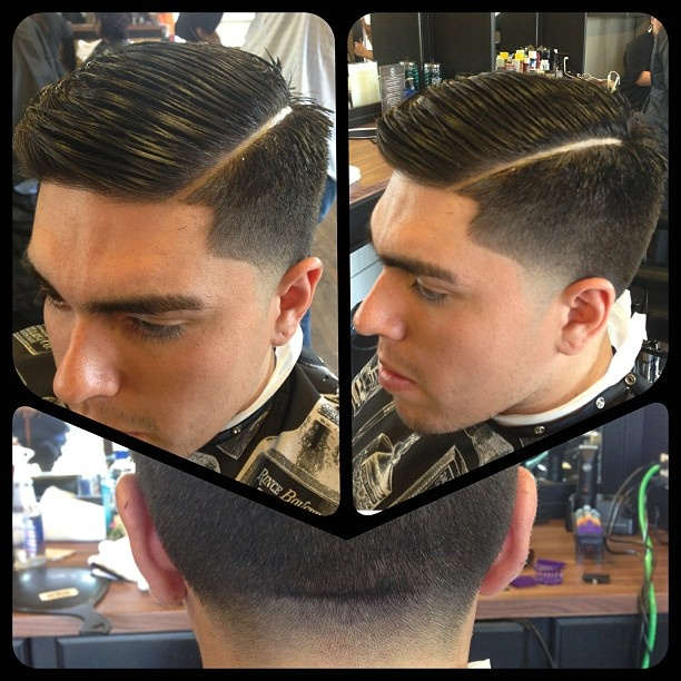 how to cut a comb over fade