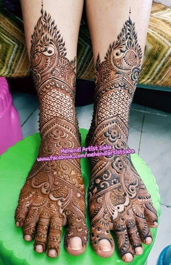 Foot henna Mehndi for foot/ feet