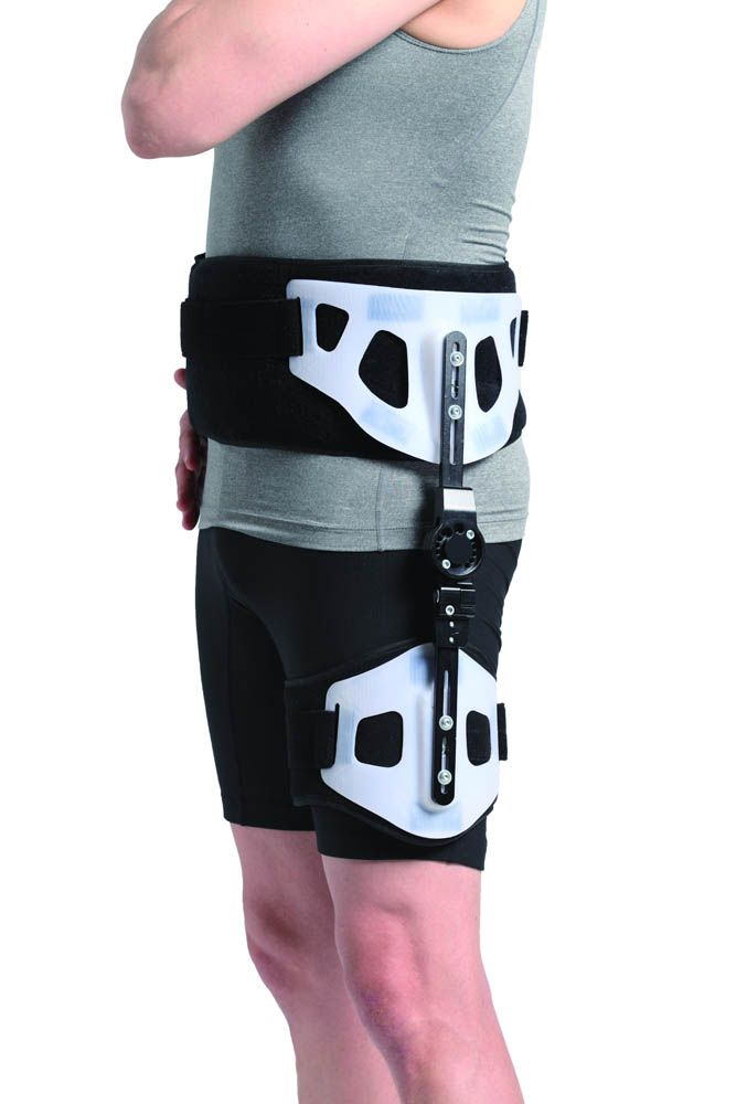 HIP ABDUCTION BRACE INDICATIONS: Arthoplasty, Hip Dislocation or Potential High Risk Dislocation, Hip Displasia - Anterior or Posterior, Hip Management/ Immobilization, Hip Revisions, Hip Surgery, Post-Operative, Pre-Operative, Stabilize, Align & Reinforce Hip