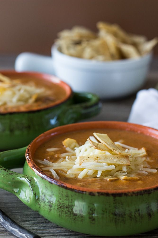 Chicken noodle soups, Tortilla soup and Chicken tortilla soup