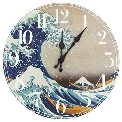wall décor is mystical, captivating and beautiful and makes any room in your home warm and inviting. You can get all kinds of inspiration by these beautiful pieces of Asian home décor. Especially when you combine Japanese canvas art, Oriental Furniture CAN-CLK-HOKU-A Great Wave Off Kanagawa Wall Clock