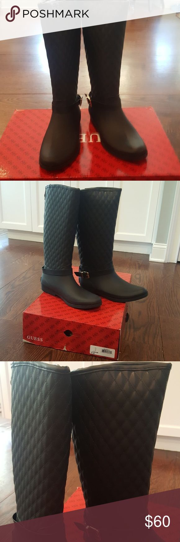 Guess Lulue Women's Rain Boots Warm women's rain boots.  Heavy duty rubber, fleece indide. Brand new, never worn. Guess Shoes Winter & Rain Boots