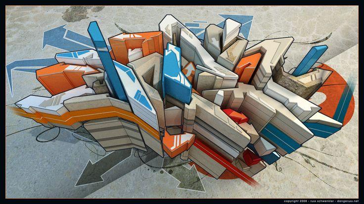 3D graffiti - Google Search