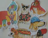 Cool handmade dog stickers. Made with love from MonnyMeetu  <3 feel free to order for yourself or as a present  https://www.etsy.com/listing/249608614/stylish-dogs-pack-2?ref=shop_home_active_4