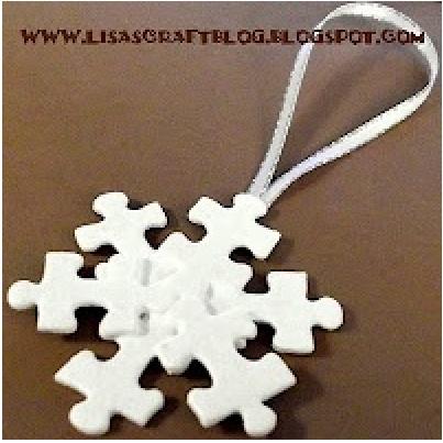 Puzzle Snowflake ornament
