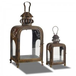 Ant Bronze Set 2 Lanterns