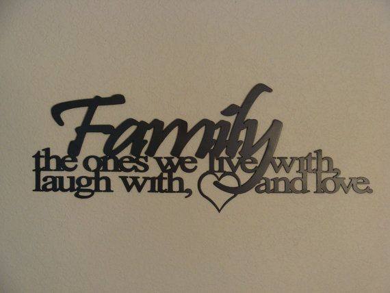Family Ties Cnc Plasma Metal Word Art Wall Hanging Words
