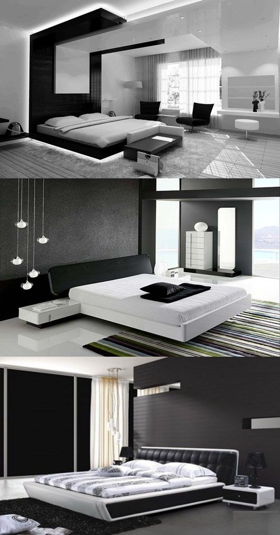 Modern Black and White Bedroom Design Ideas - http://interiordesign4.com/