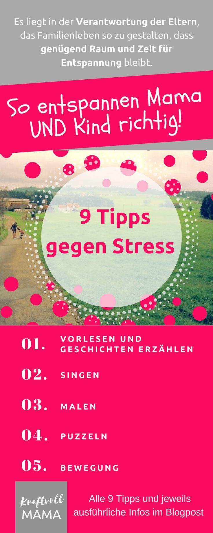 Infografik – 9 Tipps gegen Stress