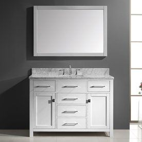 Virtu Usa Caroline White 48.8-In Undermount Single Sink Oak Bathroom V
