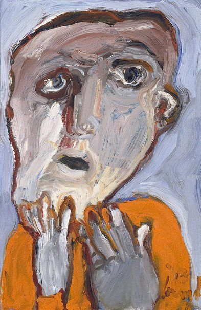 An image of Haymarket face by Kevin Connor 1963 oil on hardboard