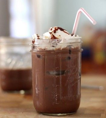 I have discovered the secret to homemade iced mocha. Tastes like Starbucks. No espresso maker needed.