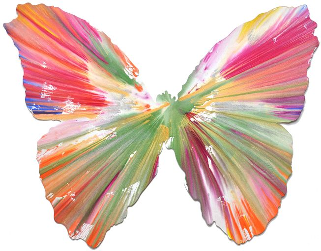 Damien Hirst, Butterfly Spin Painting, 2009 on Paddle8